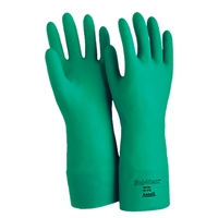 "Ansell Solvex Unsupported Nitrile Gloves, 18"" 22mil - Large, 1 dozen"