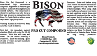 Bison Pro Cut Compound, 1 Gallon