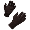 Brown 100% Cotton Jersey Knit Gloves, 1 Pack of 12 pairs - Large