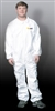 Premium White Disposable Polypropylene Coveralls - Large