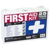 "First Aid Kit - 25 Person, Plastic, 10 1/4"" W x 7""H x 3""D"