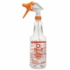 General Purpose Orange Spray Bottle w/ Trigger 32oz, 12 pack