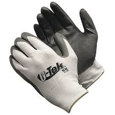 Flextech Gray PolyUrethane Palm Coated Glove - Large, 12 per pack
