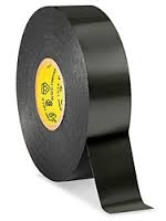 "3/4"" Black Electrical Tape, 3/4""x66', Pack of 5 Rolls"