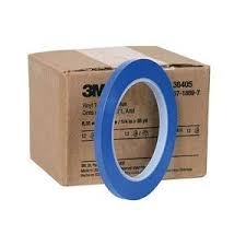 "1/2"" Blue Fineline Vinyl  Masking Tape, .50"" x 36YD, 12/ Sleeve"