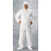 Clean All Products White Tyvek Coveralls, Zipper Front, Hood, Boots, 25/cs -Large