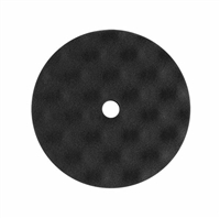 "8"" X 1"" Black Convoluted Foam Face Grip Buffing Pad with Flat Backing, 2 pack"