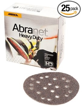 "Abranet HD 5"" 19 Hole Mesh Grip Disc 40 Grit, 25 Per Box"