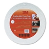 "3M Scotch Brand Double Coated Urethane Foam Tape Off White, 3/4""X36 yard"