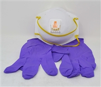 Safety Kit, N95, Safety Mask, N95 Mask, Nitrile Gloves, Travel Kit, Corona Virus Protection, Virus Kit