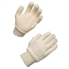 White 100% Cotton Jersey Knit Gloves, Case of 144 pairs - Large