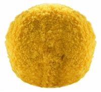 "Bison 802Y 8"" Double Sided 100% Wool Buff Pad - 1.25 Lt Compounding Yellow"